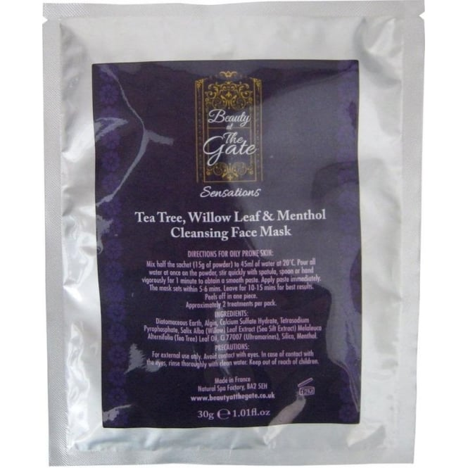 Beauty at the Gate Anti-Acne Tea-Tree, willow & Menthol Face Mask