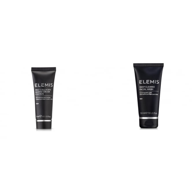 Elemis Mens Duo Travel Kit - Deep Cleanse Facial Wash & Pro-Col Marine Cream