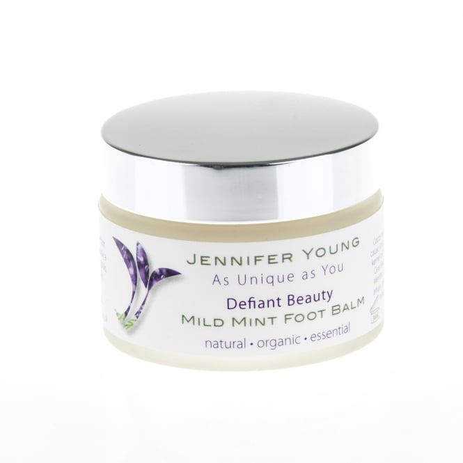 Jennifer Young Beauty Despite Cancer Defiant Beauty Mild Mint Foot Balm