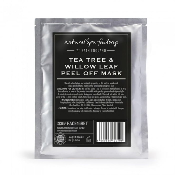 Natural Spa Company Tea Tree, Willow Leaf & Menthol Face Mask - Oily Skin (30g)